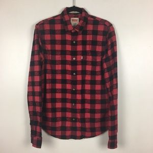 3 for $30 Levi's Fall Leaf Print Plaid Flannel
